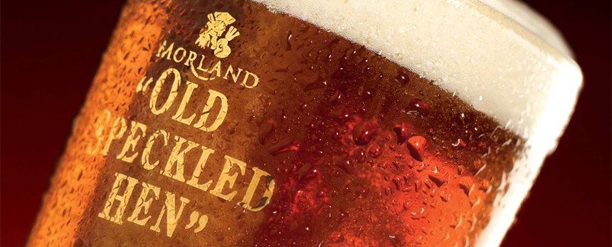 old speckled hen draught keg